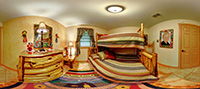 Hound Hollow - bedroom with cypress bunk bed